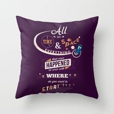 The Tenth 10th Doctor Doctor Who Throw Pillow By