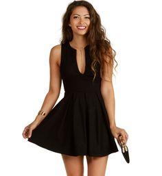 Pre-Order: Black Flirt Alert Skater Dress