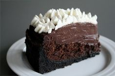 chocolate cake, pudding, cookie crust... how could you not love this?