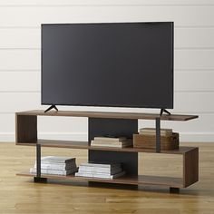 measuring 78 inches long this dramatic console provides plenty of room to store and display the austin media console is a crate and barrel exclusive