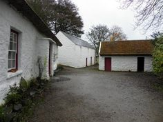 Camp Hill Cottage and out-buildings. Ulster American Folk Park, Omagh, Co Tyrone, Northern Ireland.
