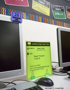 10 Must-try computer lab management tips for checkouts, logins, rules and procedures, behavior management, and classroom organization. Plus functional decor ideas to help you manage your computer lab like a boss! A good read for technology teachers and classroom teachers who use a computer lab.