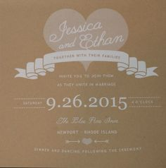 Heart Rustic Wedding Invitations Sample Set Listing for by SpectacularEvents, $6.00