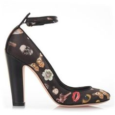 ALEXANDER McQUEEN 'Osession' Print Mary Jane Shoes