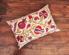 ikat fabric throw pillow ikat cushion suzani decor by DecorUZ Ikat Pillows, Velvet Pillows, Cushions, Velvet Upholstery Fabric, Ikat Fabric, Printed Silk Fabric, Handmade Pillows, Sell On Etsy, Hand Weaving