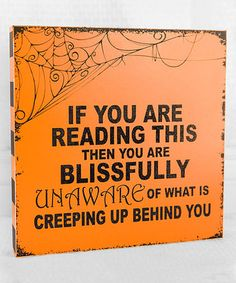 This 'Blissfully Unaware' Box Sign is perfect! #zulilyfinds