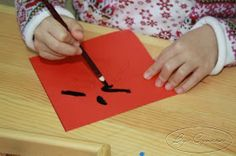 """With Chinese New Year coming, I added this new activity on the Art shelf. The Chinese symbol """"FU"""" means HAPPINESS! Just a collage . Diy Light Table, Chinese Symbols, Montessori Activities, Chinese New Year, Crafts For Kids, Projects To Try, Collage, Classroom, Teaching"""