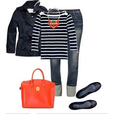 I need this outfit in my life!! Possible Brit Mums 2014 look... Stripes & Pratesi lux bag
