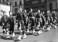Scots Regiment parade for church in Sydney in 1936.
