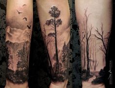 owl in the forest tattoo - Google Search