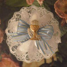 First Communion Confetti Flower with Italian Argento Chalice myitalianfavors.com™