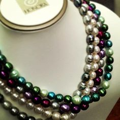 With these colorful options, there are so many ways to wear Honora pearls! #honora