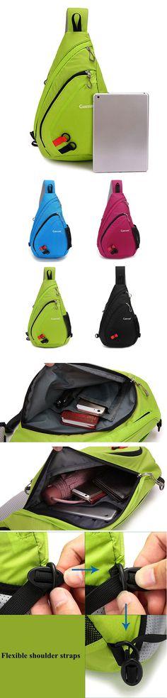 [$ 22.44] Nylon Light Durable Large Capacity Portable Chest Bag Shoulder Bag Crossbody Bag