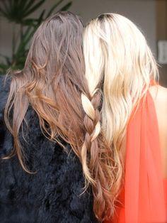Every blonde needs a brunette best friend. #Galentines