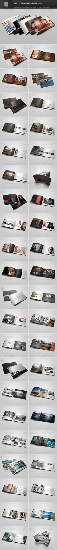 Bifold Brochure Bundle   Volume 2  #corporate #design #editorial • Available here → http://graphicriver.net/item/bifold-brochure-bundle-volume-2/2703068?s_rank=25&ref=pxcr