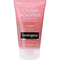 Neutrogena Oil Free Acne Wash Pink Grapefruit Foaming Scrub 4.2 oz