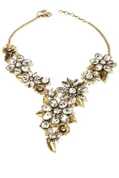 Farrah Blossom Necklace by Top Trend: Black & Gold Jewelry on @HauteLook hoshuu zahtai daashinzan deer amazing