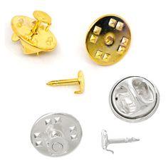 10x Ansteck Pin Rohling 4,5mm Klebefläche Brosche Krawattennadel Nadel | Sonstige | Bacabella Perlen und Schmuckzubehör