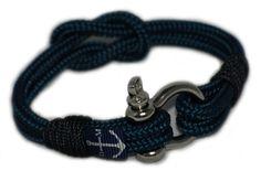 Dark Blue and Black Nautical Bracelet by Bran Marion