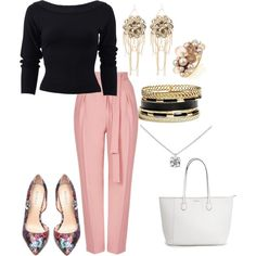 Work Attire by modernfashion101 on Polyvore featuring polyvore, fashion, style, Donna Karan, Topshop, Bebe, Tiffany & Co., Mimà and GUESS