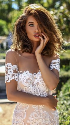 victoria soprano 2018 bridal short sleeves illusion bateau semi sweetheart neckline heavily embellished bodice elegant blush color mermaid wedding dress open back chapel train (brenda) zv