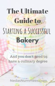 This is the story of how I started a tiny bakery, without no culinary degree. my first year in business. Bakery Business Plan, Baking Business, Cake Business, Business Planner, Business Ideas, Bakery Decor, Bakery Design, Bakery Ideas, Ann's Bakery