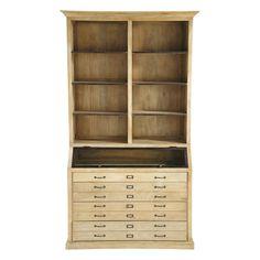 Mango wood bookcase W Naturaliste Bookshelves, Bookcase, Firewood Storage, Workspace Inspiration, Manga, Decorative Objects, Decoration, Home Art, Metallica