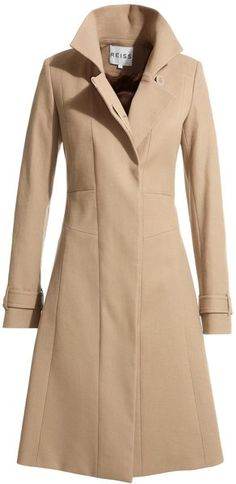 Wrap Collar Fitted Coat