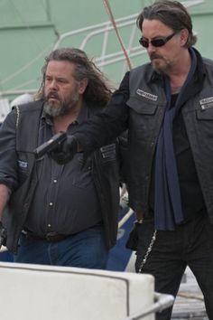 "Sons Of Anarchy  Mark Boone Junior as Robert ""Bobby Elvis"" Munson Tommy Flanagan as Filip ""Chibs"" Telford"