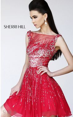 2014 Sexy Red Prom Dress By Sherri Hill 8519
