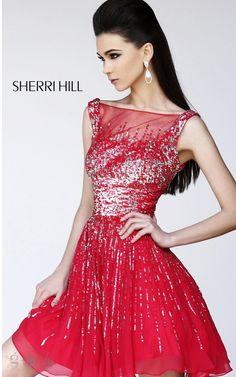 2014 Sexy Red Prom Dress By Sherri Hill 8519