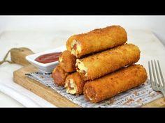 Rollitos de salchicha y queso con pan de molde. Receta fácil paso a paso