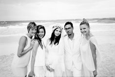 After the ceremony, Lee and I went down to the beach for margaritas and a quick photo session with our friends and family.