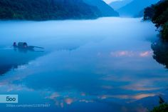 Dense Fog in the Morning  - Pinned by Mak Khalaf Taken in Xiao Dongjiang Lake Human China. Landscapes  by annaking484