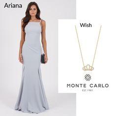POWERLOOK - Aluguel de Vestidos Online –Nosso vestido Ariana  é a cara de uma princesa e para compor um look perfeito selecionamos o colae Wish!!! #alugueldevestidos #powerlook #madrinha #casamento #festa #party #glamour #euvoudepowerlook #dress #dreams #arrase #alugue #devolva #modaconsciente #beauty #beautiful #ariana #azul #montecarlo #colar #wish #coroa