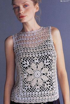 Openwork Crochet Top - Free Crochet Diagram - (blog.163)