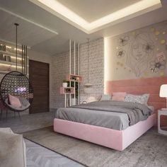 51 Cool Bedrooms With Tips To Help You Accessorize Yours Girl Bedroom Designs Accessorize bedrooms Cool tips Cute Bedroom Ideas, Cute Room Decor, Girl Bedroom Designs, Awesome Bedrooms, Bedroom Styles, Design Bedroom, Bed Designs, Bed Ideas, Bedroom Inspiration