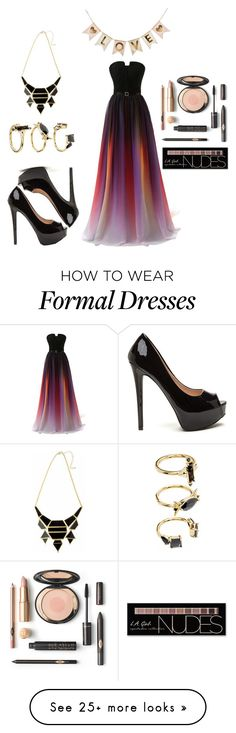 """""""When the Lights Went Down"""" by elsiebeagie on Polyvore featuring Charlotte Russe and Noir Jewelry"""