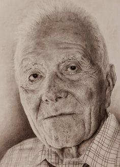 Pencil portrait old man https://www.facebook.com/amanda.esplugues#portrait #oldman #pencildrawing #oldmanportrait #pencildrawing