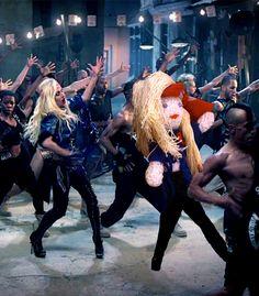 "Lalka Lady Gagi z klipu do ""Judas"" // Lady Gaga Judas doll. #knit #crochet #doll #kindersurprise #celebrity #handmade #ladygaga #gaga #artpop #judas"