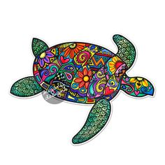 Sea Turtle Car Decal Colorful Design Bumper by MeganJDesigns Turtle Car, Sea Turtle Art, Teal Yellow, Pink And Green, Laptop Stickers, Bumper Stickers, Cute Car Decals, Posca Art, Hippie Boho
