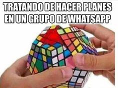 Tratando de hacer planes en un grupo de whatsapp