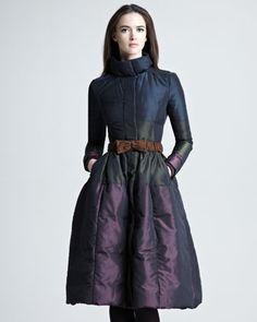 Flared Taffeta Coat by Burberry Prorsum at Neiman Marcus.