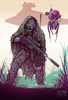 ArtStation - Star Wars Stormtrooper Sniper , James Wetherell