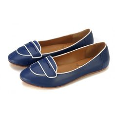 Penny Loafers in Navy Blue -  Taramay Design