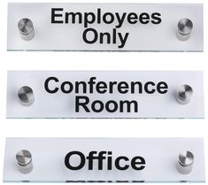Workshop Series 8 x 2 Door Signs Pre-printed Messages Set of 3 - Clear  sc 1 st  Pinterest & Cable display acrylic pockets - Edge Signs | Signage | Pinterest ...