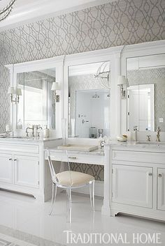Ideas Ideas apartment Ideas diy Ideas hamptons Ideas master Ideas modern Ideas on a budget Ideas small Bathroom Ideas Bathroom Ideas Hampton Designer Showhouse 2013 Bad Inspiration, Bathroom Inspiration, Bathroom Ideas, Bathroom Vanities, Bathroom Cabinets, Bathroom Storage, Makeup Vanities, Bath Mirrors, Framed Mirrors