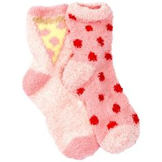 Free Press Pattern Fuzzy Socks - Pack of 2 ($7.97) ❤ liked on Polyvore featuring intimates, hosiery, socks, pink tropics pizza love, patterned socks, pink socks, pink fuzzy socks, knit socks and padded socks