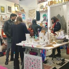 Lots of people out and about today despite the cold. We're here until 5 #urbanmakerseast #handmade #designermaker #hackney #popupshop