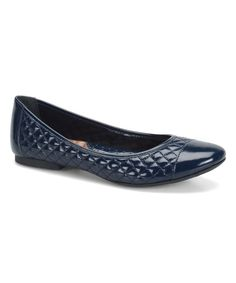 This Navy Patent Riley Leather Flat by Børn is perfect! #zulilyfinds